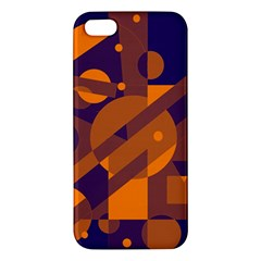 Blue And Orange Abstract Design Iphone 5s/ Se Premium Hardshell Case by Valentinaart