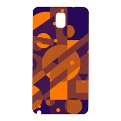 Blue And Orange Abstract Design Samsung Galaxy Note 3 N9005 Hardshell Back Case by Valentinaart