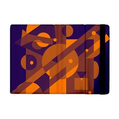 Blue And Orange Abstract Design Ipad Mini 2 Flip Cases by Valentinaart