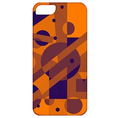 Orange And Blue Abstract Design Apple Iphone 5 Classic Hardshell Case by Valentinaart