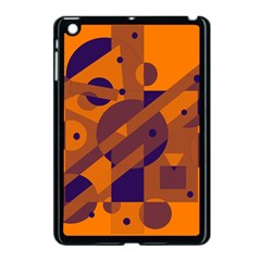 Orange And Blue Abstract Design Apple Ipad Mini Case (black) by Valentinaart