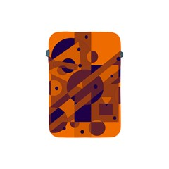 Orange And Blue Abstract Design Apple Ipad Mini Protective Soft Cases by Valentinaart