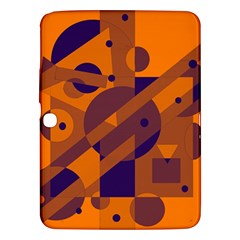 Orange And Blue Abstract Design Samsung Galaxy Tab 3 (10 1 ) P5200 Hardshell Case  by Valentinaart