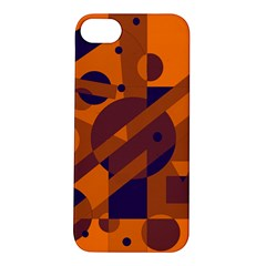 Orange And Blue Abstract Design Apple Iphone 5s/ Se Hardshell Case by Valentinaart