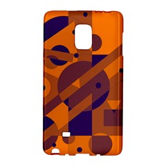 Orange And Blue Abstract Design Galaxy Note Edge by Valentinaart