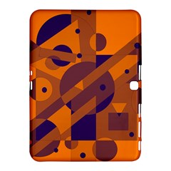 Orange And Blue Abstract Design Samsung Galaxy Tab 4 (10 1 ) Hardshell Case  by Valentinaart