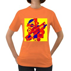 Colorful Abstraction Women s Dark T Shirt by Valentinaart