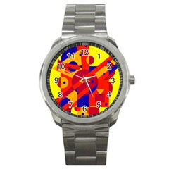 Colorful Abstraction Sport Metal Watch by Valentinaart