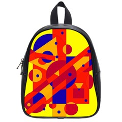 Colorful Abstraction School Bags (small)  by Valentinaart