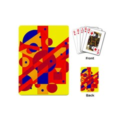Colorful Abstraction Playing Cards (mini)  by Valentinaart