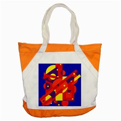 Blue And Orange Abstract Design Accent Tote Bag