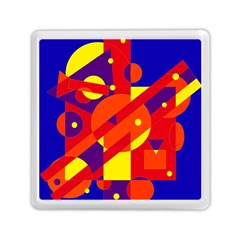 Blue And Orange Abstract Design Memory Card Reader (square)  by Valentinaart