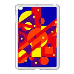 Blue And Orange Abstract Design Apple Ipad Mini Case (white) by Valentinaart