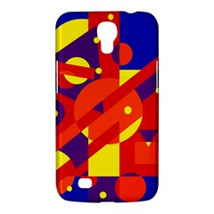 Blue And Orange Abstract Design Samsung Galaxy Mega 6 3  I9200 Hardshell Case by Valentinaart