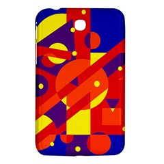 Blue And Orange Abstract Design Samsung Galaxy Tab 3 (7 ) P3200 Hardshell Case  by Valentinaart