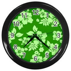 Green Hawaiian Wall Clocks (black) by AlohaStore