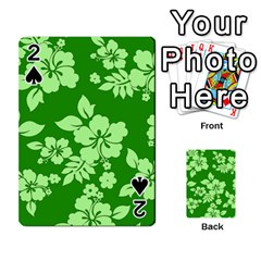 Green Hawaiian Playing Cards 54 Designs