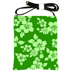 Green Hawaiian Shoulder Sling Bags by AlohaStore