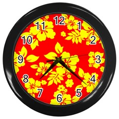 Hawaiian Sunshine Wall Clocks (black) by AlohaStore