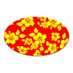 Hawaiian Sunshine Oval Magnet by AlohaStore