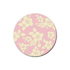 Pastel Hawaiian Rubber Round Coaster (4 Pack)  by AlohaStore