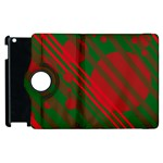 Red and green abstract design Apple iPad 2 Flip 360 Case Front