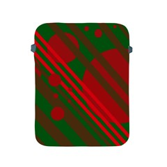 Red And Green Abstract Design Apple Ipad 2/3/4 Protective Soft Cases