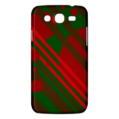 Red And Green Abstract Design Samsung Galaxy Mega 5 8 I9152 Hardshell Case  by Valentinaart