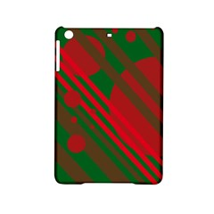 Red And Green Abstract Design Ipad Mini 2 Hardshell Cases by Valentinaart