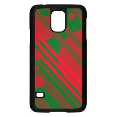 Red And Green Abstract Design Samsung Galaxy S5 Case (black) by Valentinaart