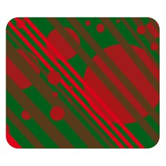 Red And Green Abstract Design Double Sided Flano Blanket (small)  by Valentinaart