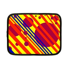 Hot Circles And Lines Netbook Case (small)  by Valentinaart
