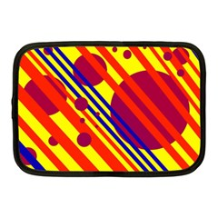 Hot Circles And Lines Netbook Case (medium)  by Valentinaart