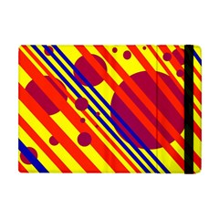 Hot Circles And Lines Apple Ipad Mini Flip Case by Valentinaart