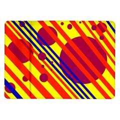 Hot Circles And Lines Samsung Galaxy Tab 10 1  P7500 Flip Case by Valentinaart