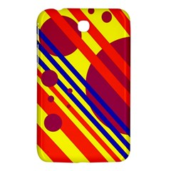 Hot Circles And Lines Samsung Galaxy Tab 3 (7 ) P3200 Hardshell Case  by Valentinaart