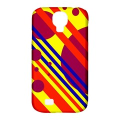 Hot Circles And Lines Samsung Galaxy S4 Classic Hardshell Case (pc+silicone) by Valentinaart