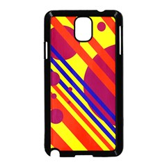 Hot Circles And Lines Samsung Galaxy Note 3 Neo Hardshell Case (black) by Valentinaart