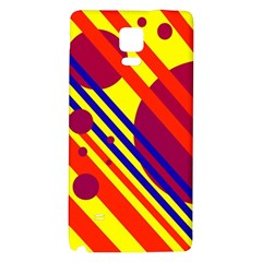 Hot Circles And Lines Galaxy Note 4 Back Case by Valentinaart