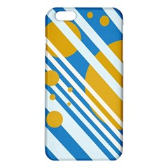Blue, Yellow And White Lines And Circles Iphone 6 Plus/6s Plus Tpu Case by Valentinaart