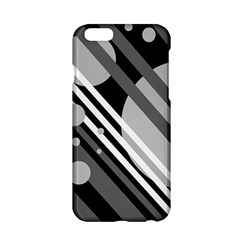 Gray Lines And Circles Apple Iphone 6/6s Hardshell Case by Valentinaart