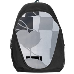Gray Hart Backpack Bag by Valentinaart