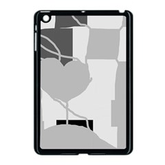 Gray Hart Apple Ipad Mini Case (black) by Valentinaart