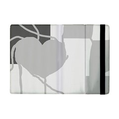 Gray Hart Ipad Mini 2 Flip Cases by Valentinaart