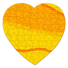 Yellow Decorative Design Jigsaw Puzzle (heart) by Valentinaart