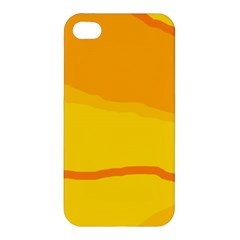 Yellow Decorative Design Apple Iphone 4/4s Hardshell Case by Valentinaart