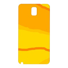 Yellow Decorative Design Samsung Galaxy Note 3 N9005 Hardshell Back Case by Valentinaart