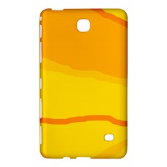 Yellow Decorative Design Samsung Galaxy Tab 4 (7 ) Hardshell Case  by Valentinaart