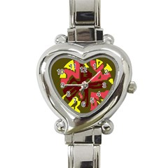 Abstract Design Heart Italian Charm Watch by Valentinaart