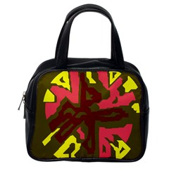 Abstract Design Classic Handbags (one Side) by Valentinaart